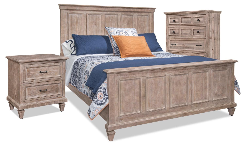 Ensemble calistoga 5 pi ces avec grand lit commode for Chambre a coucher solde