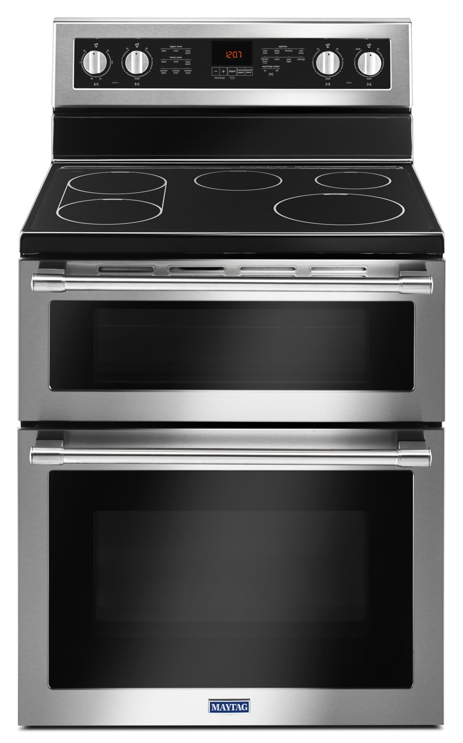 Maytag 6.7 Cu. Ft. Double Oven Electric Range with True Convection – YMET8800FZ