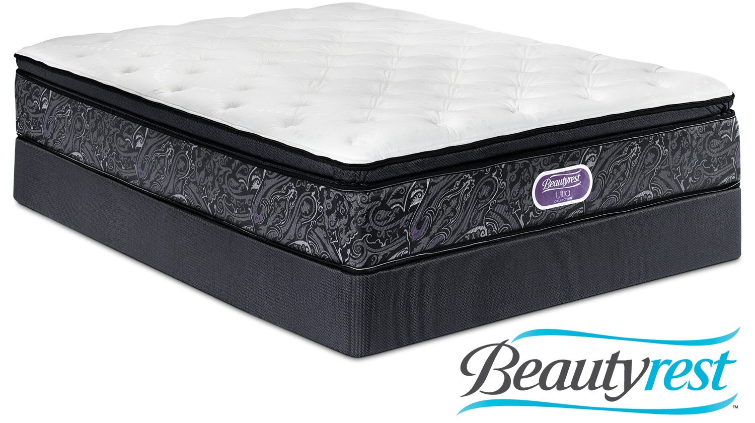 simmons beautyrest ultra silvia firm queen mattress and boxspring set leon 39 s. Black Bedroom Furniture Sets. Home Design Ideas
