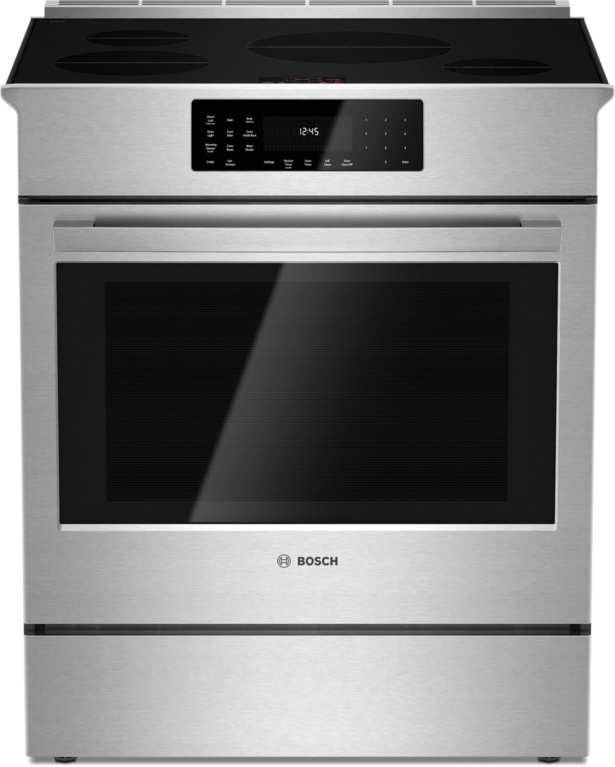 "Bosch 30"" Induction Slide-in 800 Series Stainless Steel Range – HII8055C"