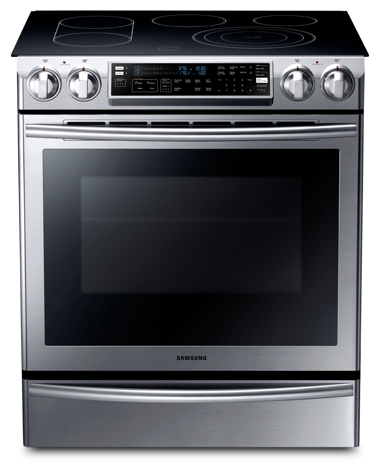 Cooking Products - Samsung 5.8 Cu. Ft. Slide-In Electric Flex Duo™ Range – NE58F9710WS/AC