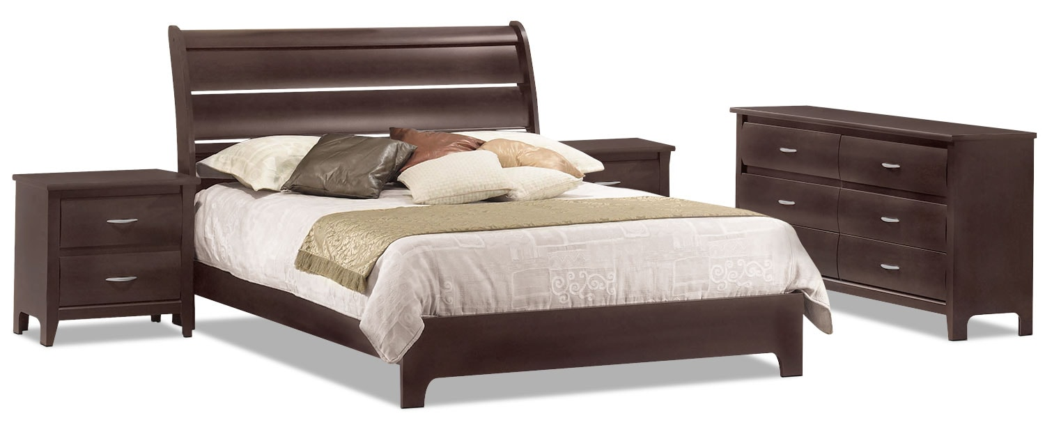 Mocha 6-Piece Queen Bedroom Package with 2 Nightstands