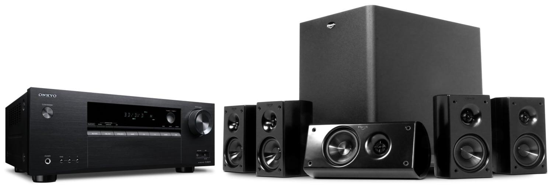 Systèmes audio - Klipsch/Onkyo Ensemble de cinéma maison 5.1 canaux HDT300/TXSR373