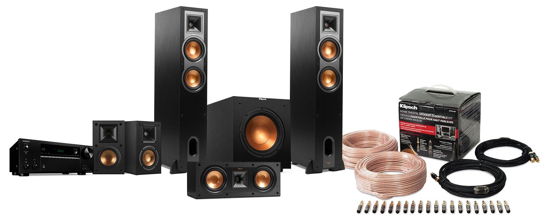 Sound Systems - Klipsch/Onkyo 5.1 CH Home Theatre System Package - R26F/R25C/R14M/R10SW/575/KHTK