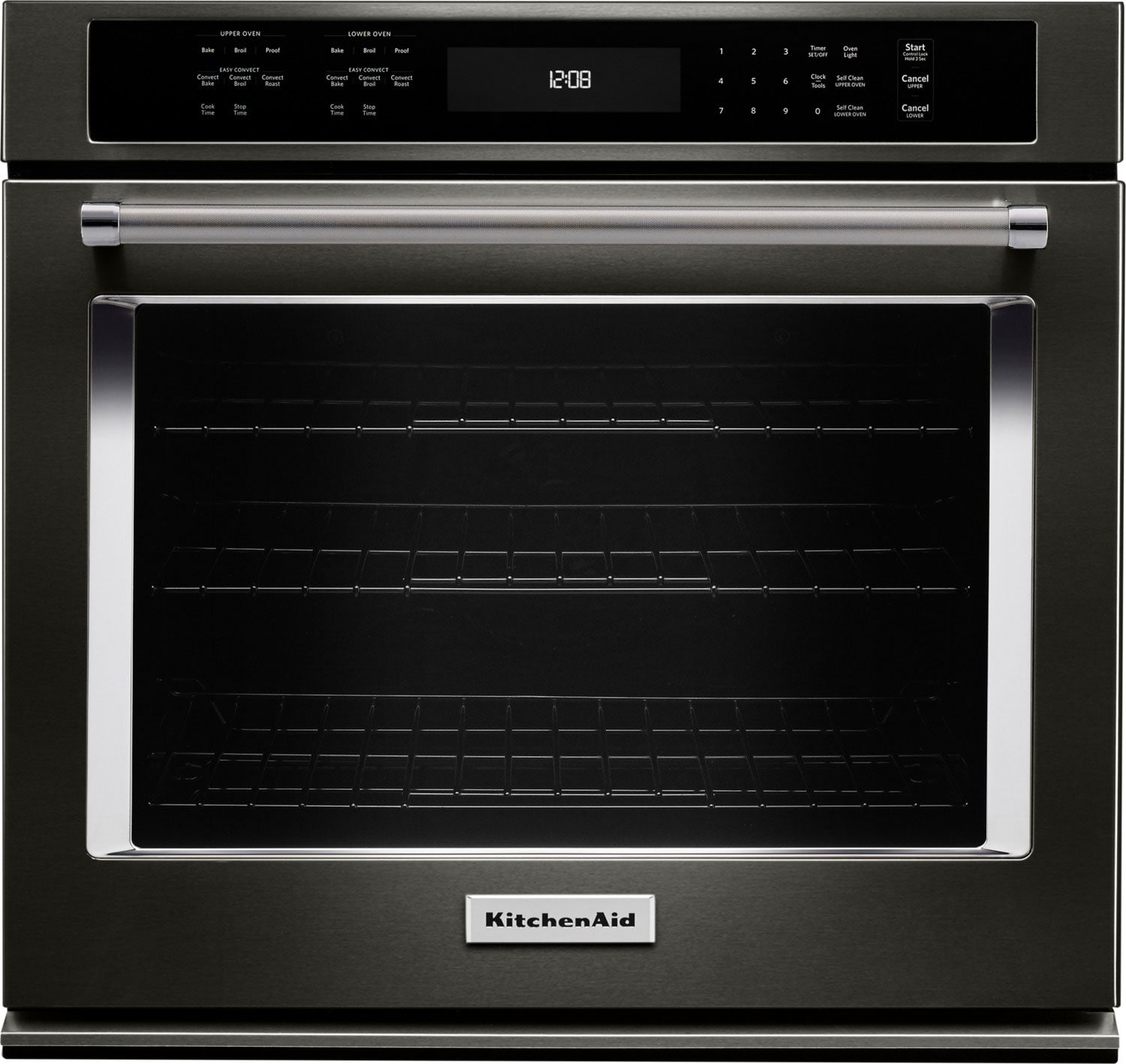 KitchenAid 5.0 Cu. Ft.  Single Wall Oven with Even-Heat™ True Convection – KOSE500EBS