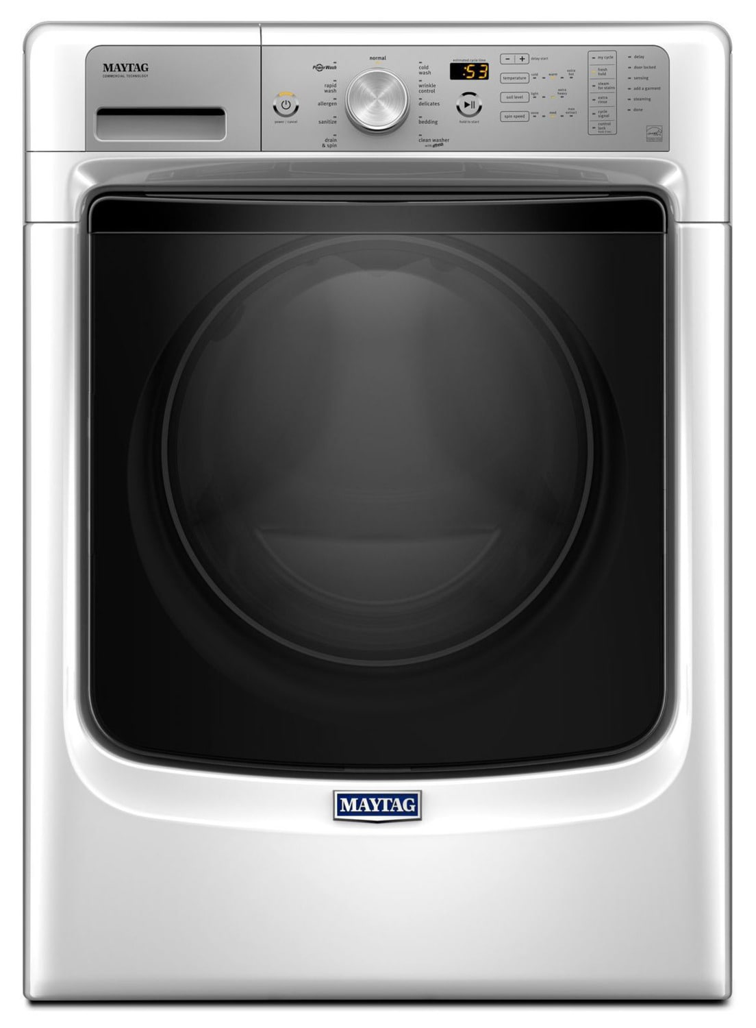 Maytag White Front-Load Washer (5.2 Cu. Ft. IEC) - MHW5500FW