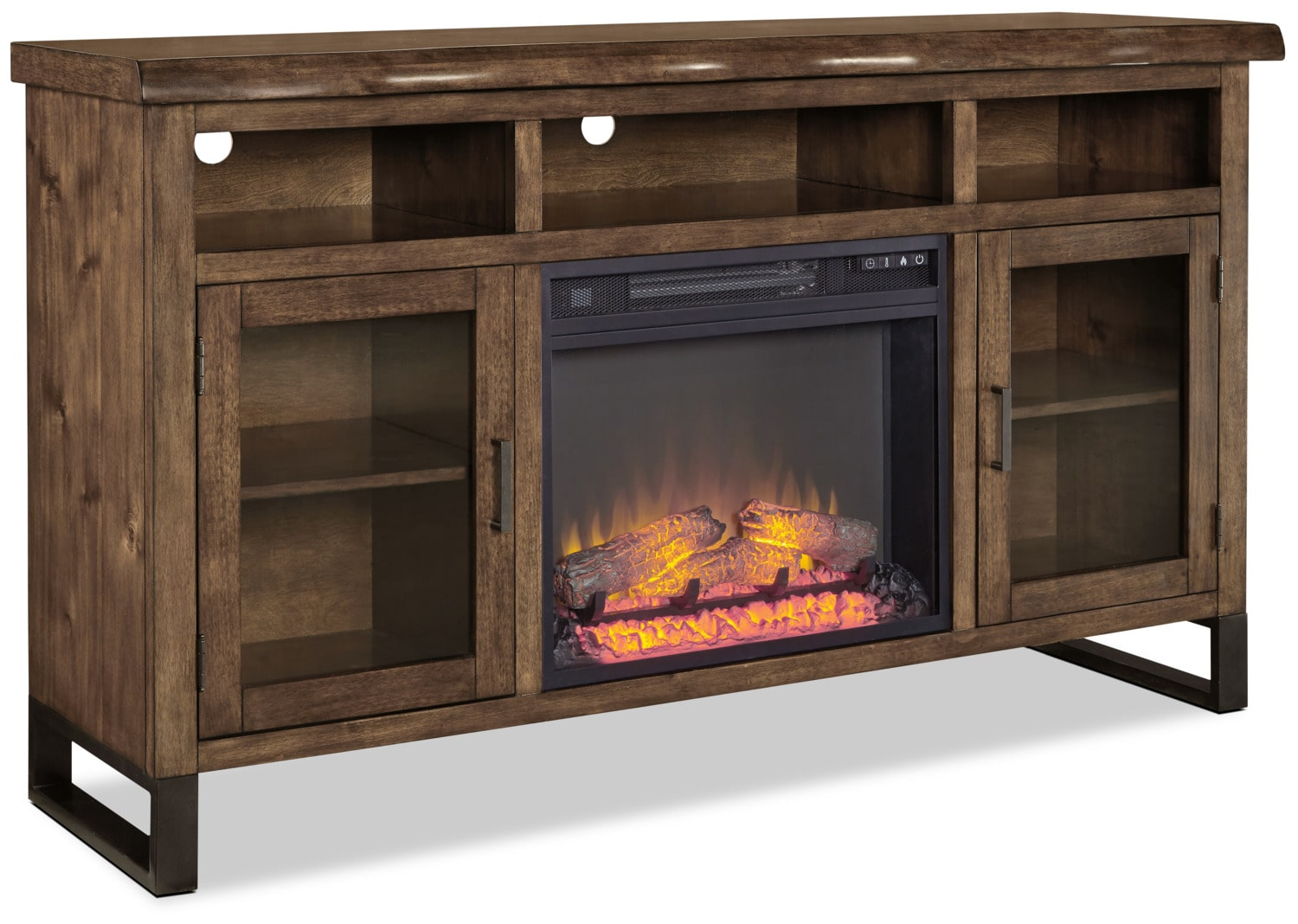 "Esmarina 62"" TV Stand with Log Firebox"