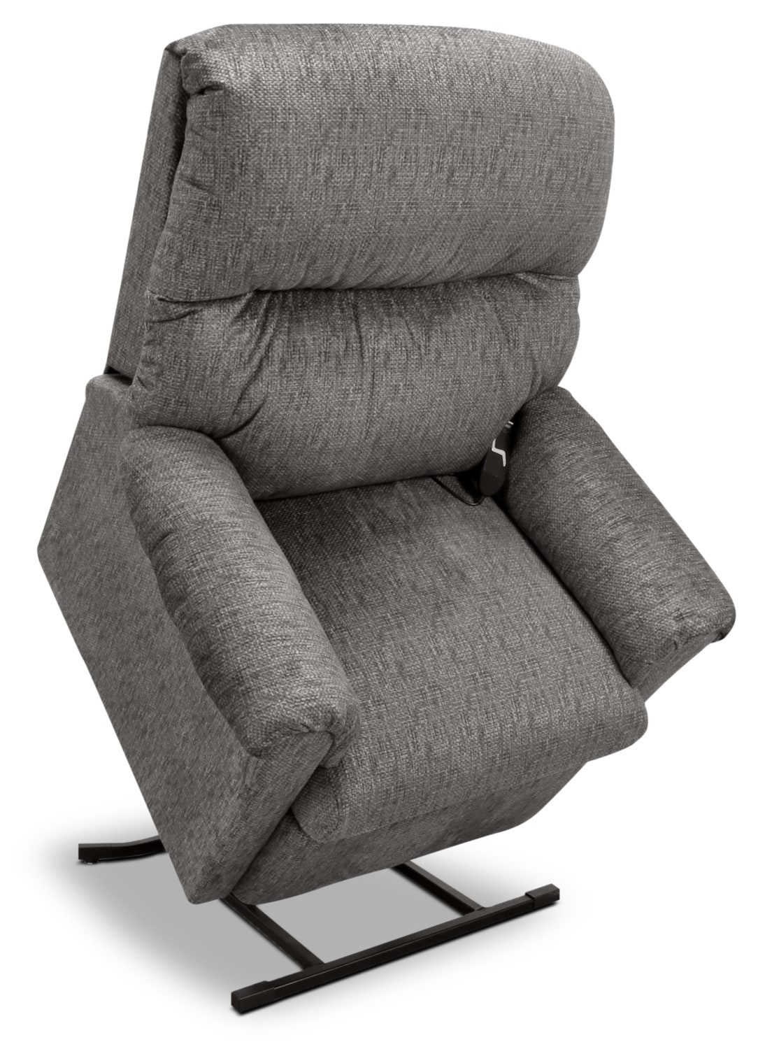 Living Room Furniture - 481 Textured Chenille 3-Position Power Lift Chair –Grey