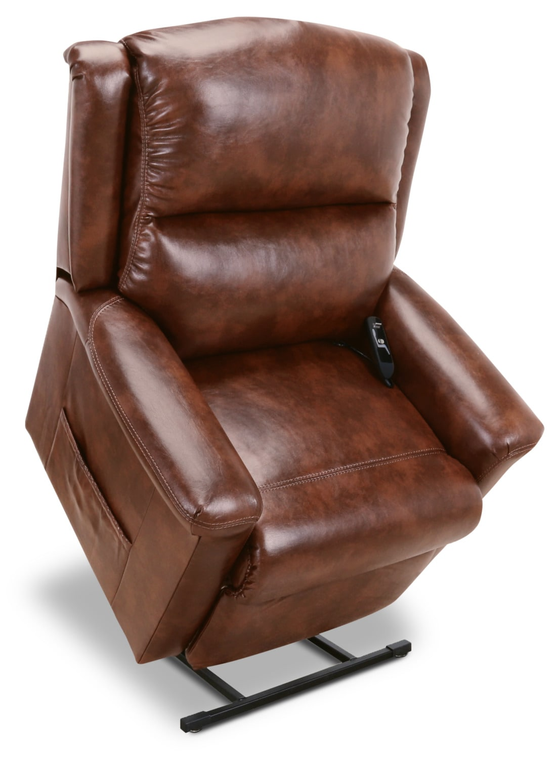 486 Leather-Look Fabric 3-Position Power Lift Chair – Mocha