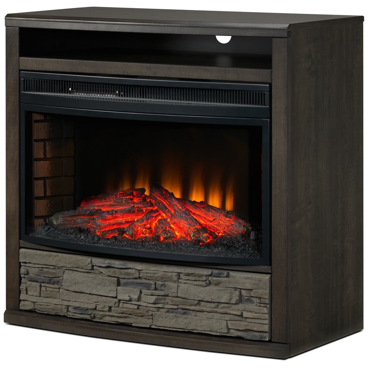 Onyx Fireplace TV Stand - Charcoal