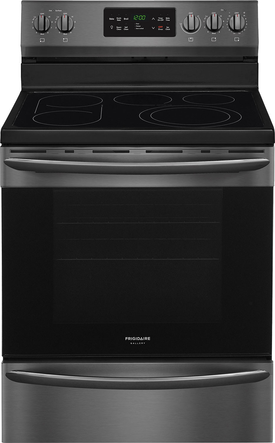 "Frigidaire Gallery 30"" Black Stainless Steel Freestanding Electric Convection Range - CGEF3062TD"