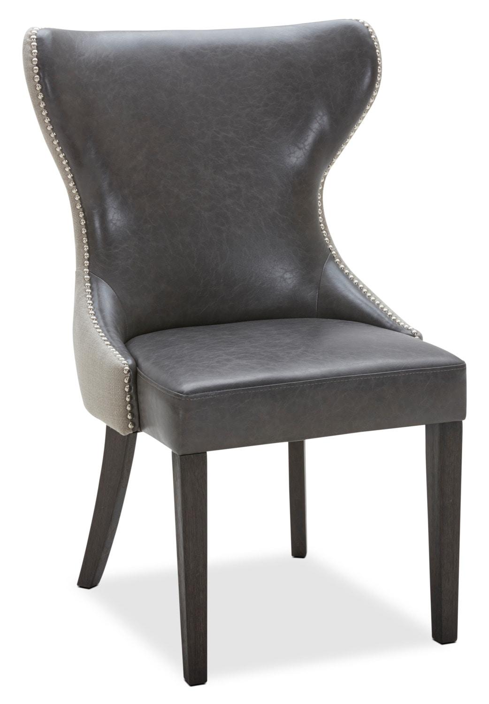 Chaise de salle manger shea grise brick - Chaise de salle a manger grise ...
