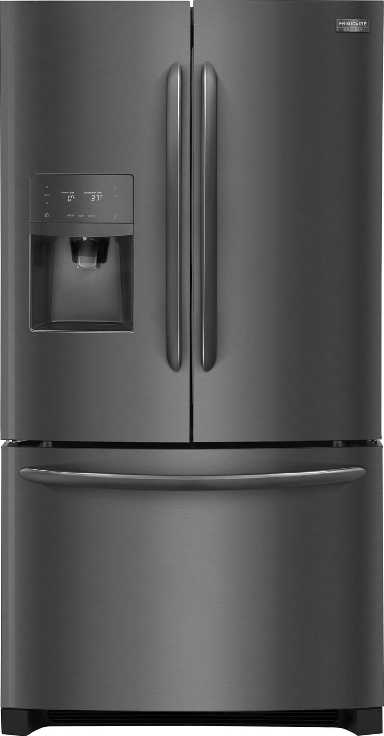 Frigidaire Gallery Black Stainless Steel French Door Refrigerator (23 Cu. Ft.) - FGHF2367TD