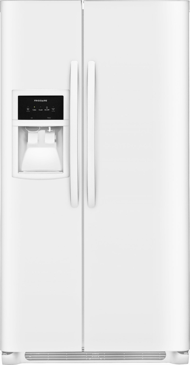 Frigidaire White Side-by-Side Refrigerator (22.1 Cu. Ft.) - FFSS2325TP
