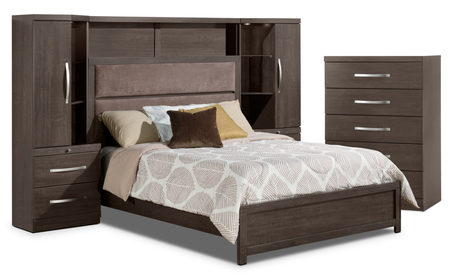 Willowdale 4-Piece Queen Pier Bedroom Package with Chest