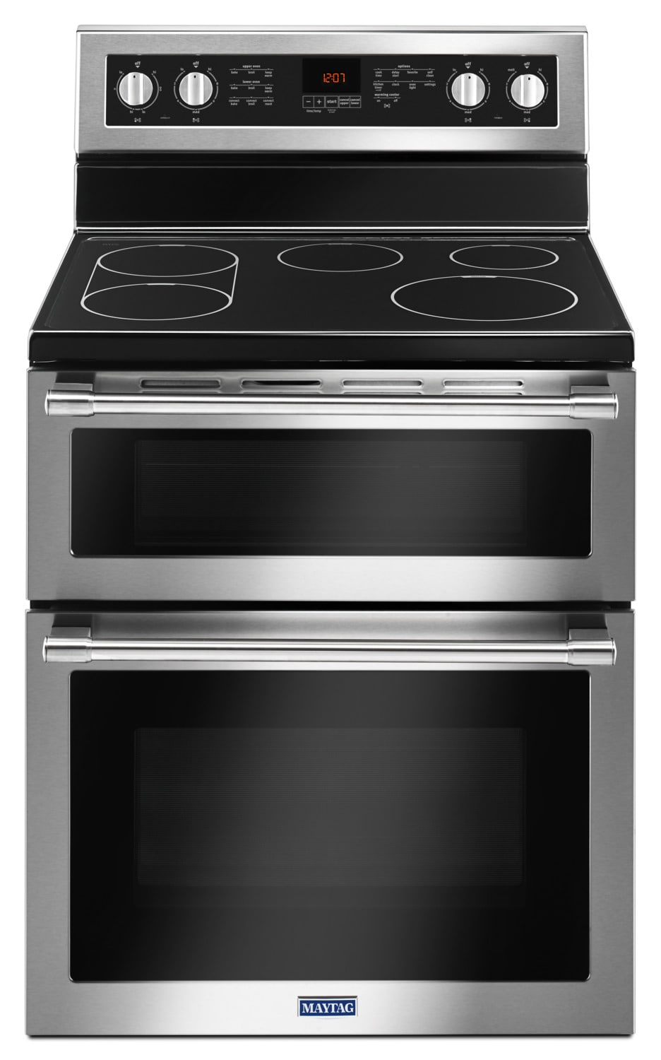 Maytag Stainless Steel Freestanding Electric Double Oven Range (6.0 Cu. Ft.) - YMET8800FZ