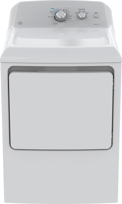 GE White Electric Dryer (7.2 Cu. Ft.) - GTD40EBMKWW