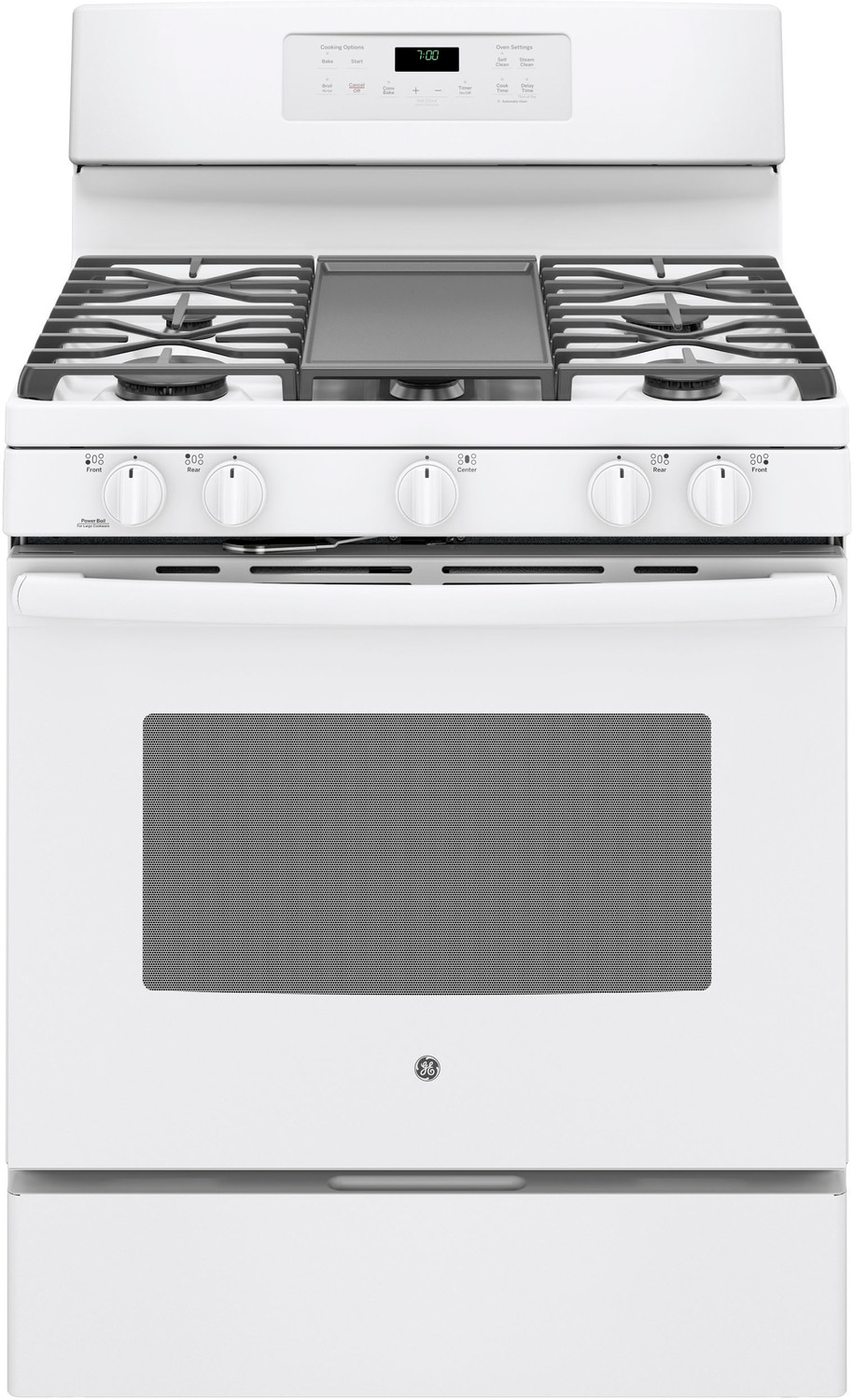 Cooking Products - GE White Freestanding Gas Convection Range (5.0 Cu. Ft.) - JCGB700DEJWW