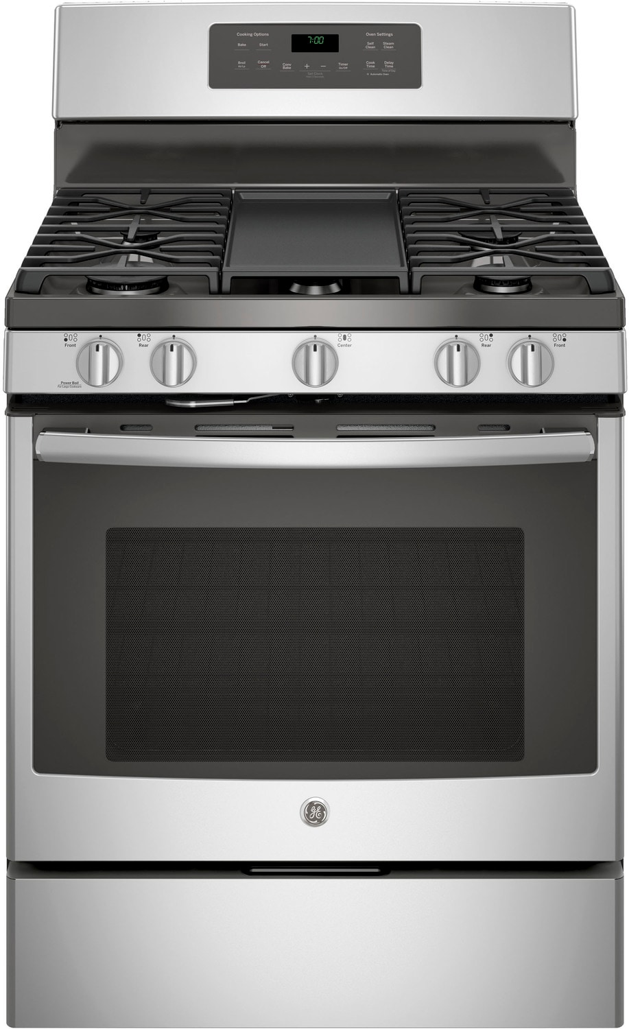 GE Stainless Steel Freestanding Gas Convection Range (5.0 Cu. Ft.) - JCGB700SEJSS