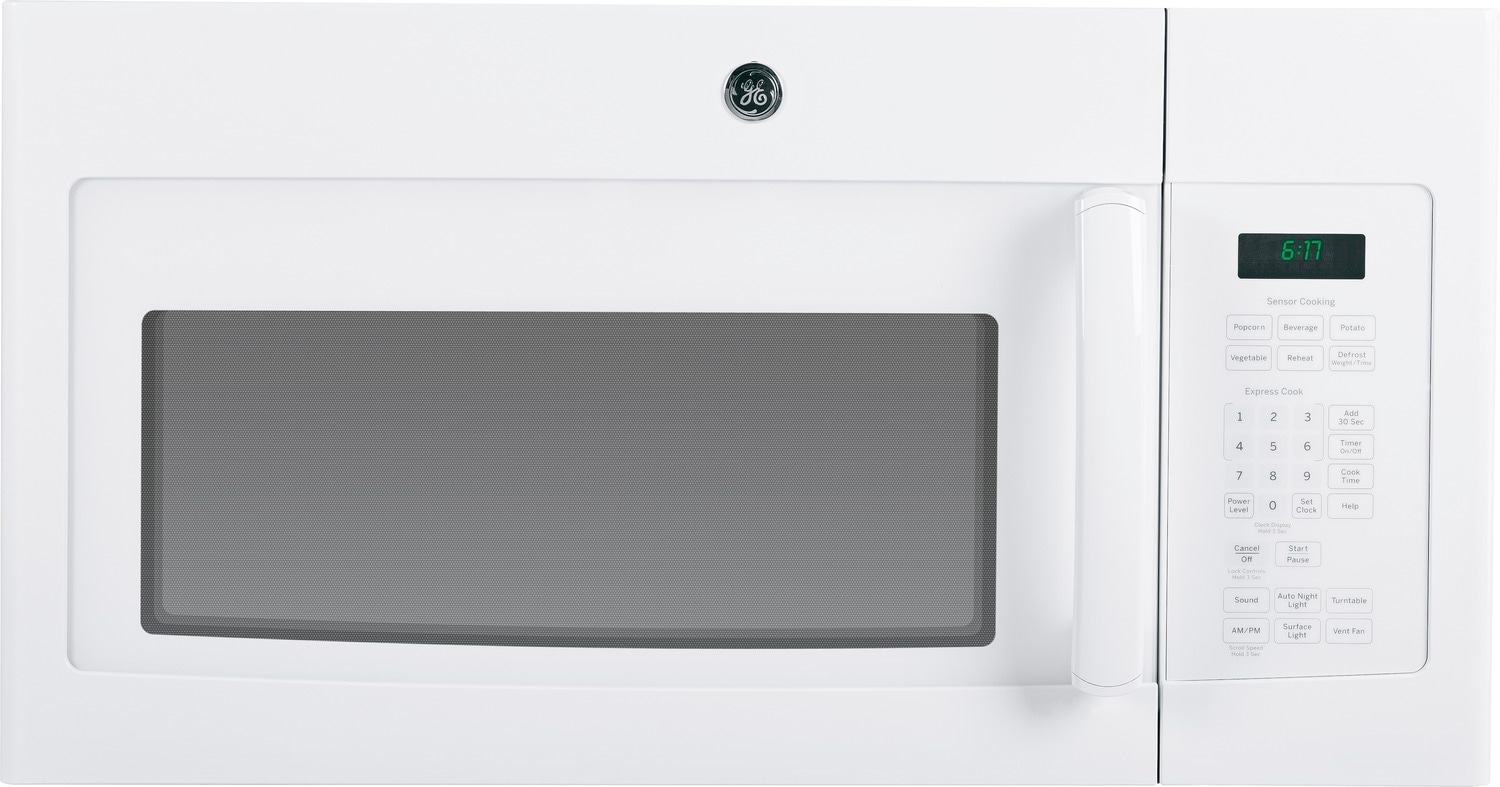 GE White Over-the-Range Microwave (1.6 Cu. Ft.) - JVM1630WFC