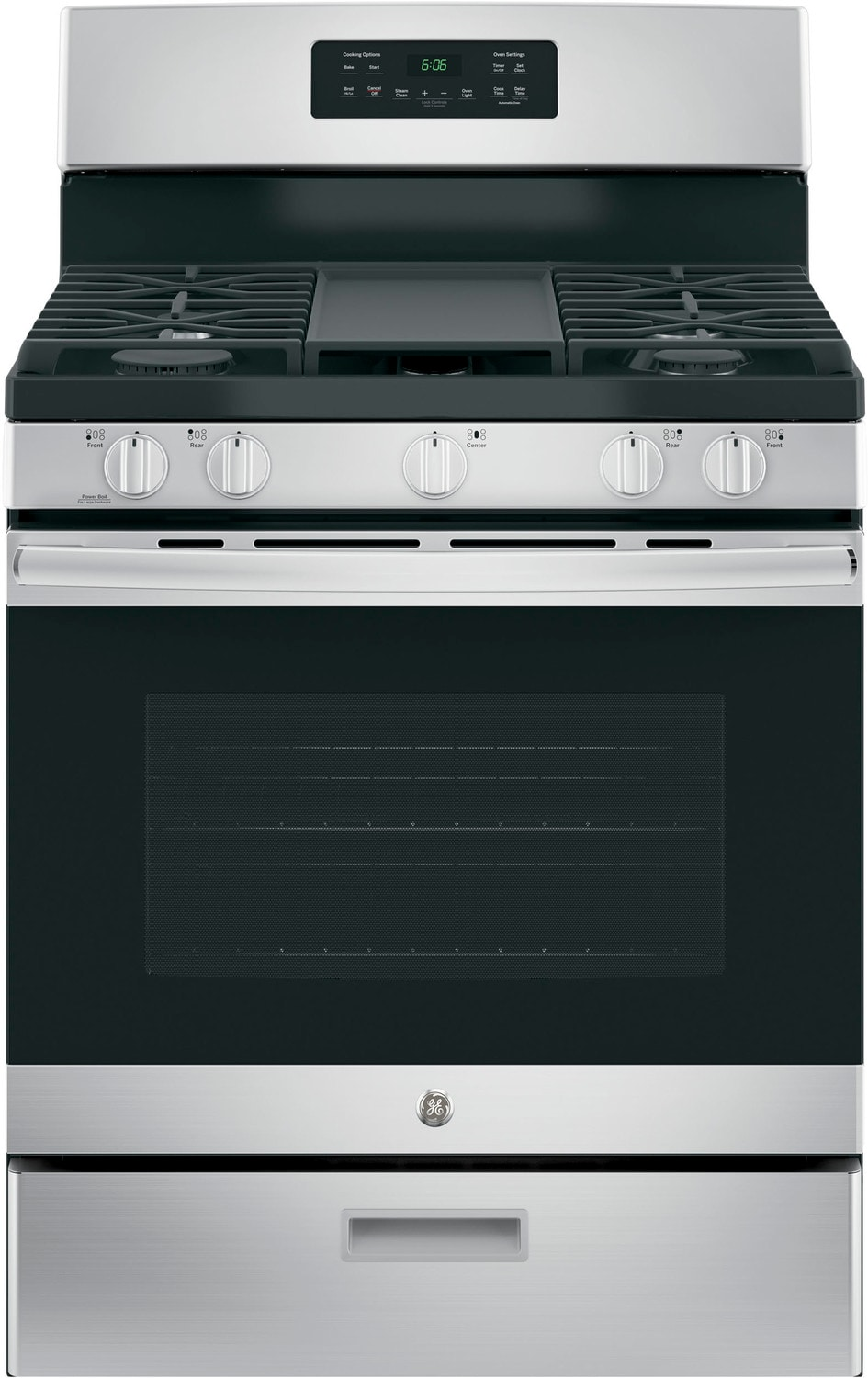 Cooking Products - GE Stainless Steel Freestanding Gas Range (5.0 Cu. Ft.) - JCGBS66SEKSS