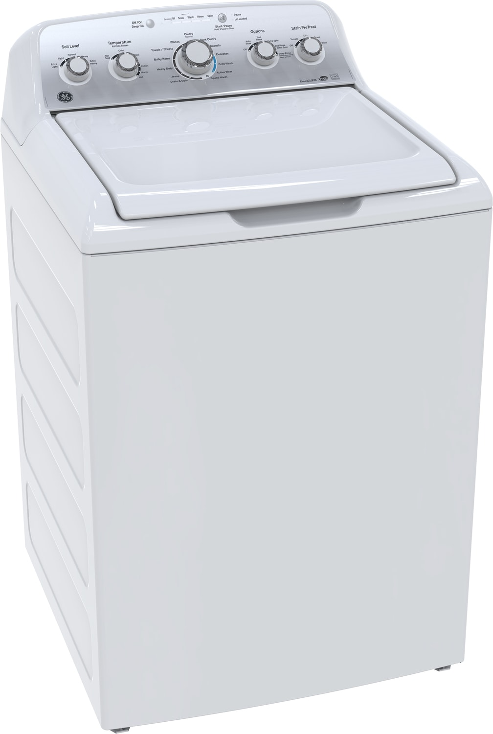 GE White Top-Load Washer (4.9 Cu. Ft. IEC) - GTW485BMKWS