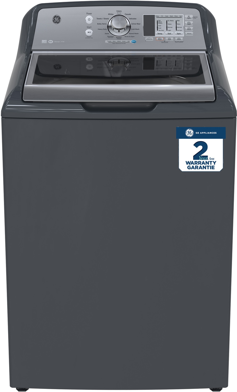 GE Diamond Grey Top-Load Washer (5.3 Cu. Ft. IEC) - GTW680BMKDG