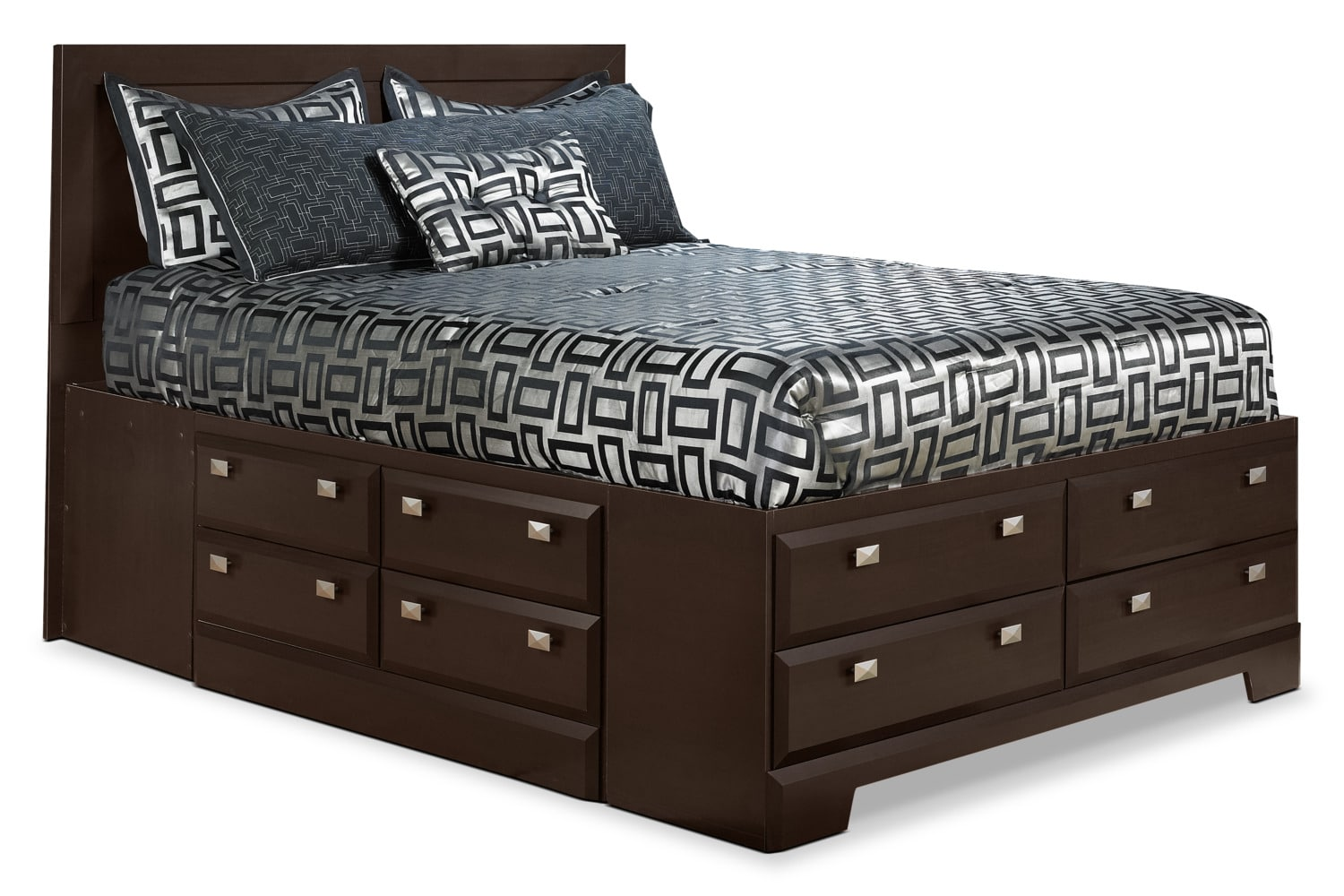 Bedroom Furniture - Yorkdale Full Platform Bed with Storage