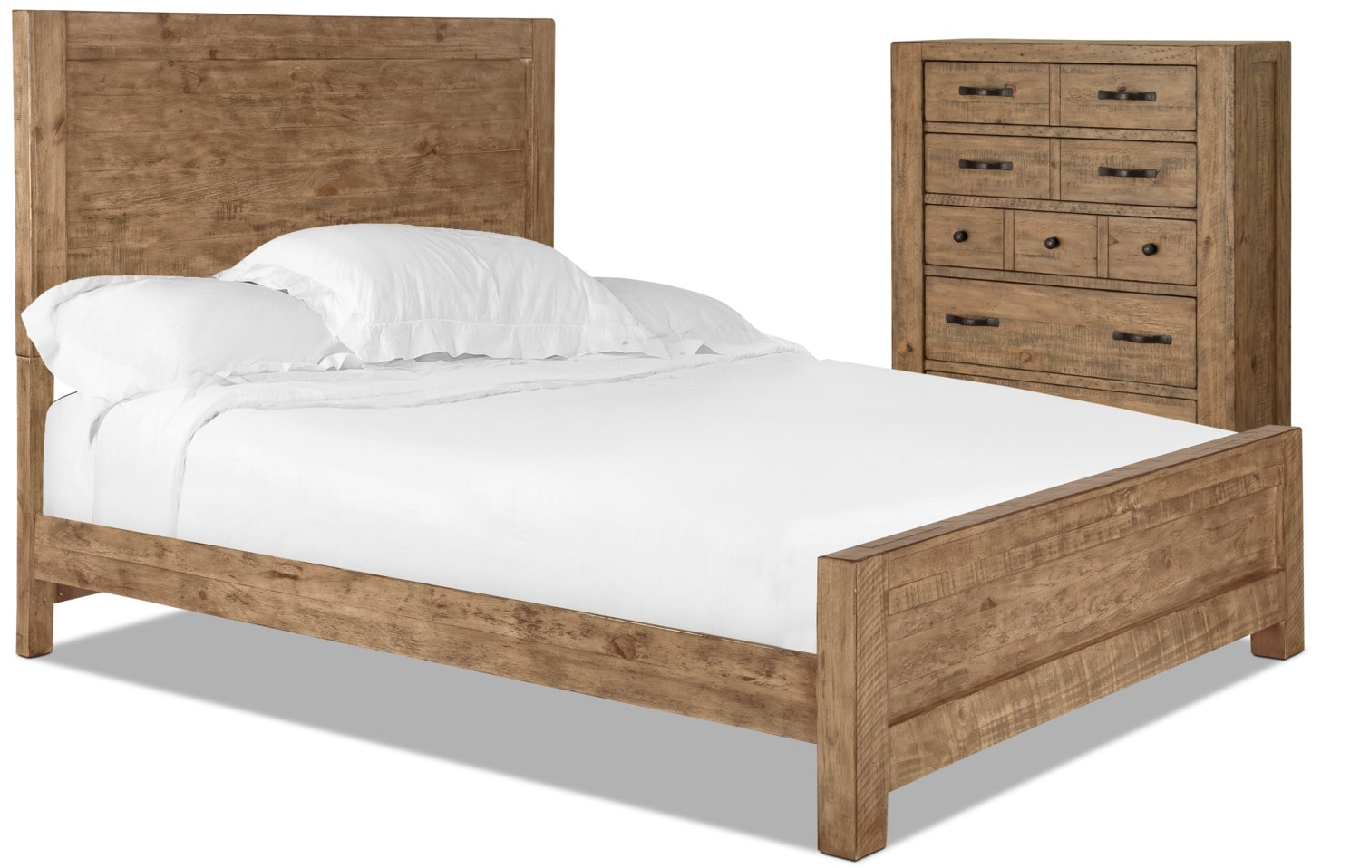 Griffith 4-Piece King Panel Bed and Chest Package