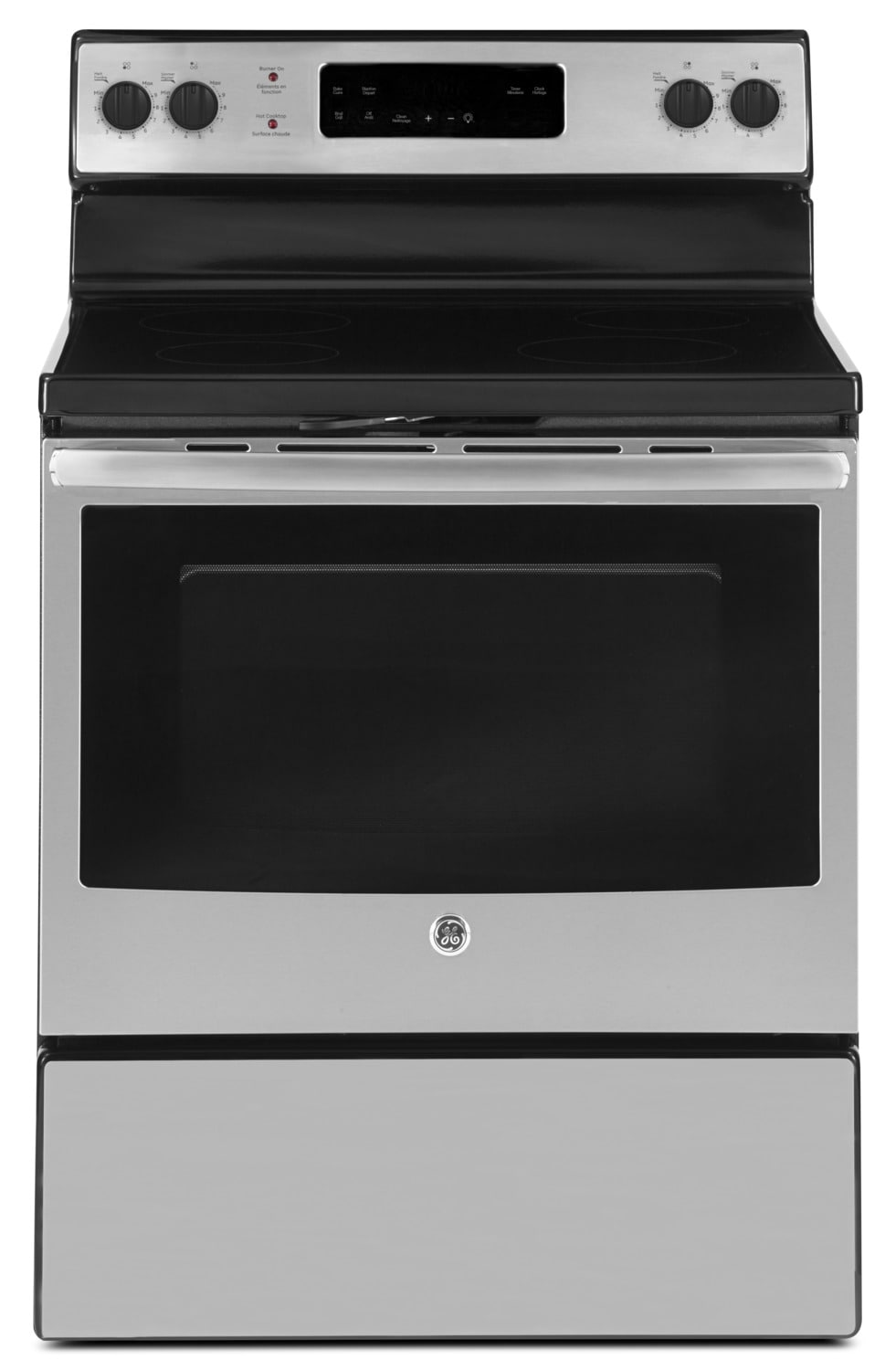 GE 5.0 Cubic Foot Freestanding Electric Self-Cleaning Range – JCB630SKSS