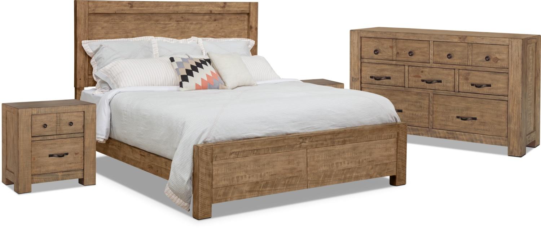 Bedroom Furniture - Griffith 6-Piece Queen Storage Bedroom Package – 2 Nightstands