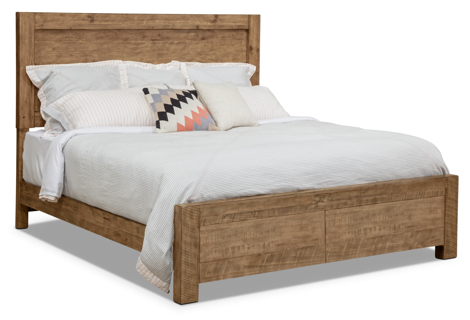 Bedroom Furniture - Griffith Queen Panel Bed with Storage Footboard