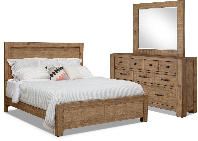 Chambre à coucher - Ensemble de chambre à coucher Griffith 5 pièces avec grand lit de rangement