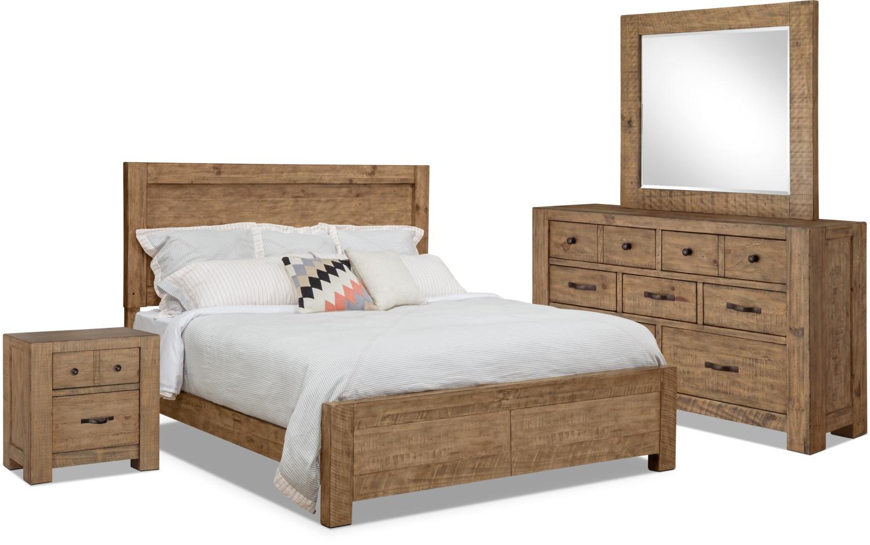 Chambre à coucher - Ensemble de chambre à coucher Griffith 6 pièces avec très grand lit de rangement