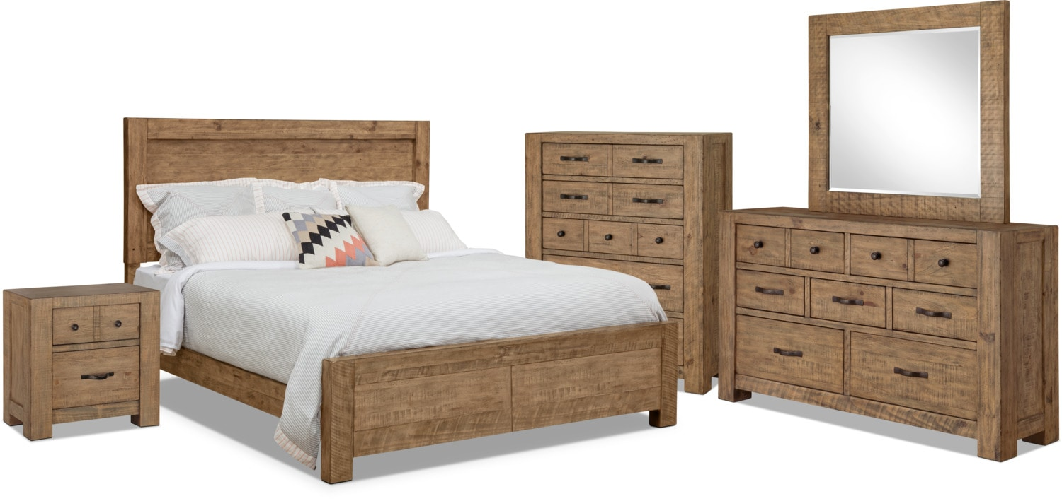 Bedroom Furniture - Griffith 7-Piece King Storage Bedroom Package
