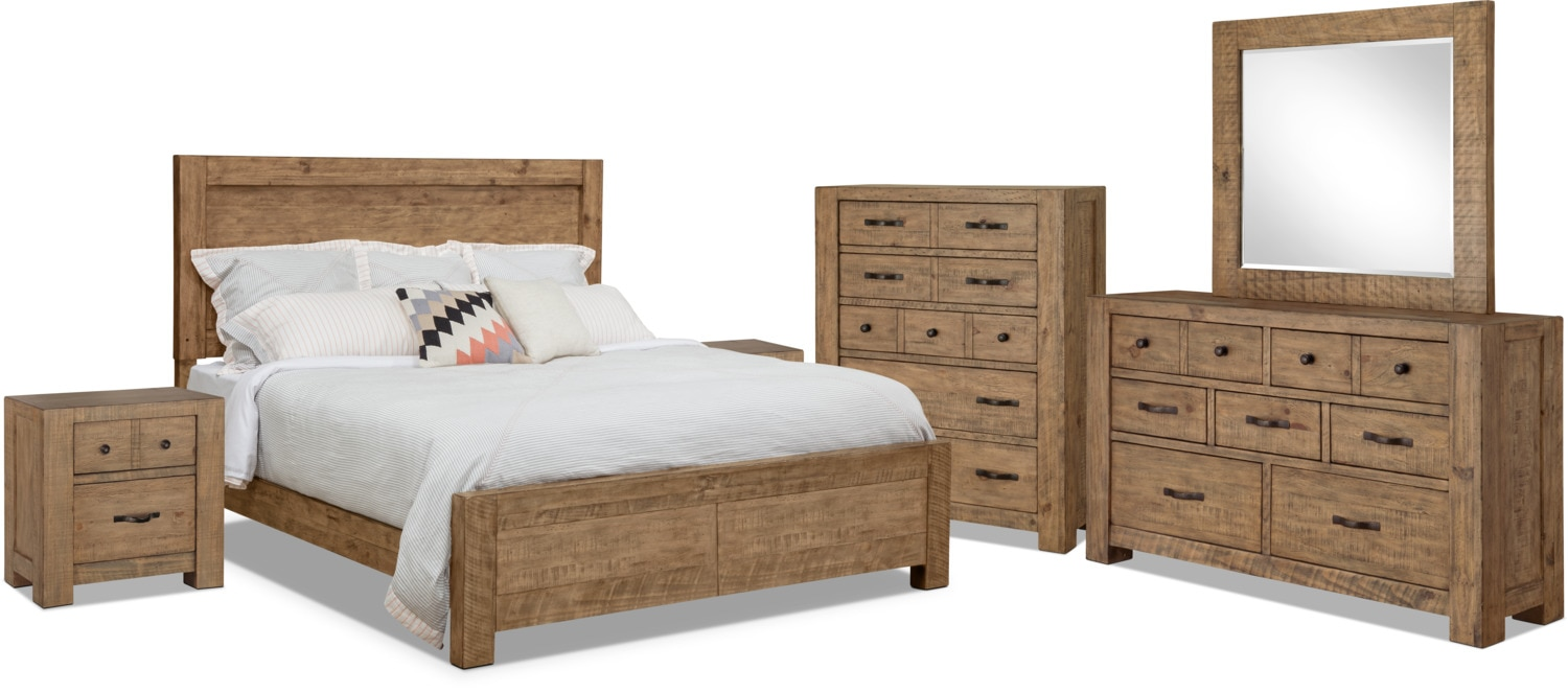 Bedroom Furniture - Griffith 8-Piece Queen Storage Bedroom Package