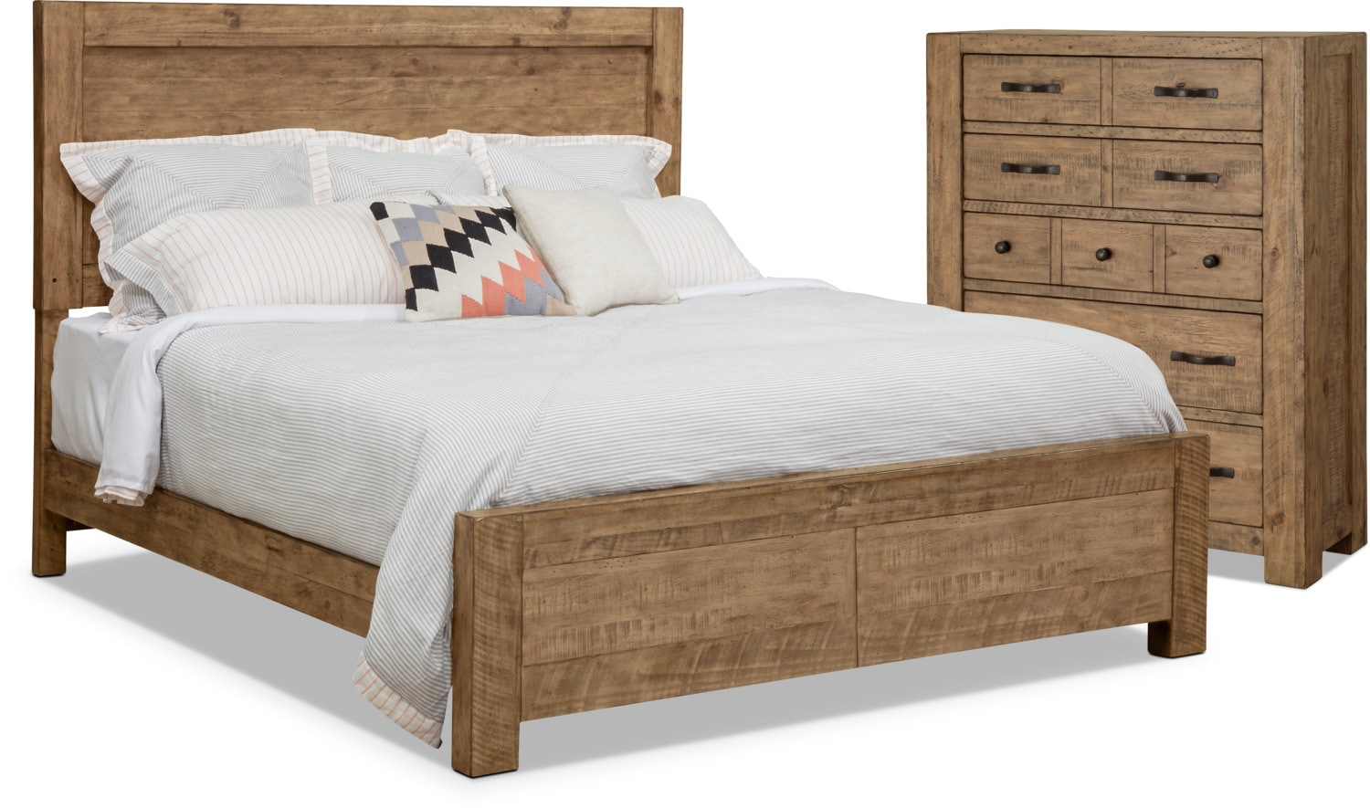 Griffith 4-Piece King Storage Bed and Chest Package