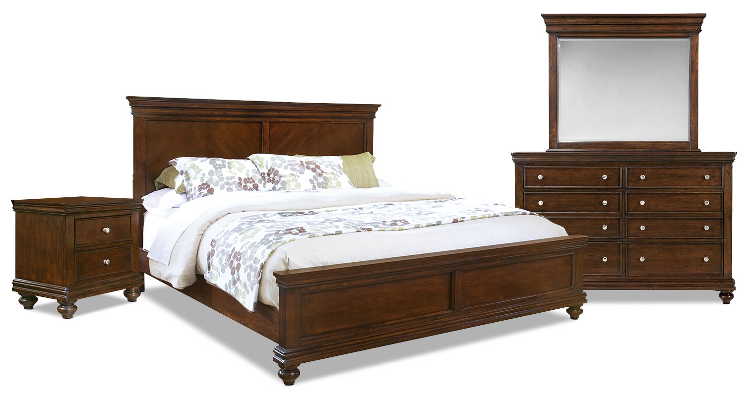 Bridgeport 6 piece queen bedroom set the brick for Bedroom 6 piece set