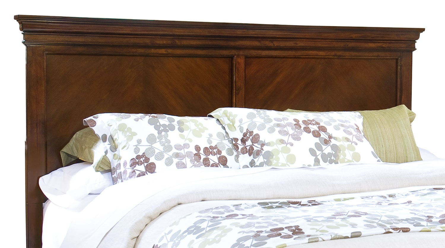 Bedroom Furniture - Bridgeport King Panel Headboard - Cherry