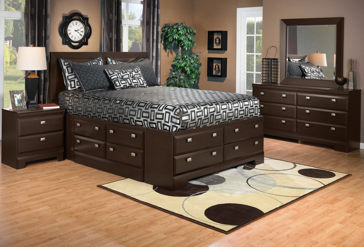 Yorkdale 6 piece queen storage bedroom package the brick - Cheap bedroom furniture packages ...