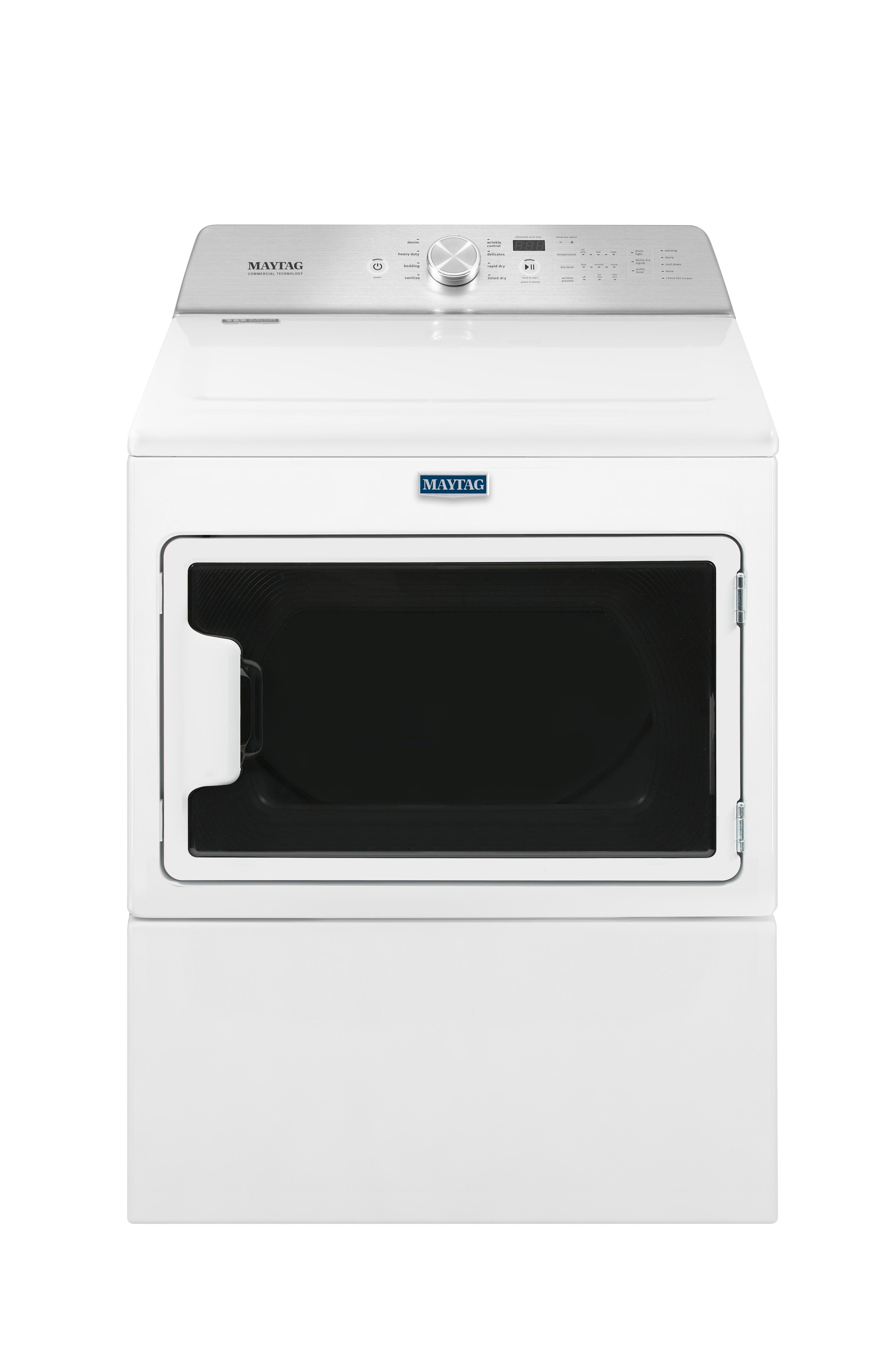 Maytag White Electric Dryer (7.4 Cu. Ft.) - YMEDB765FW