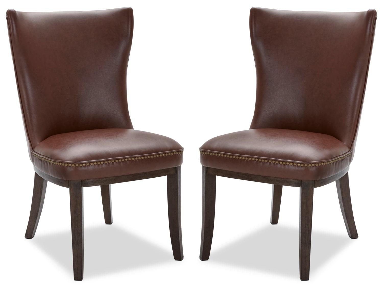 Ava Dining Chair, Set of 2 – Cognac