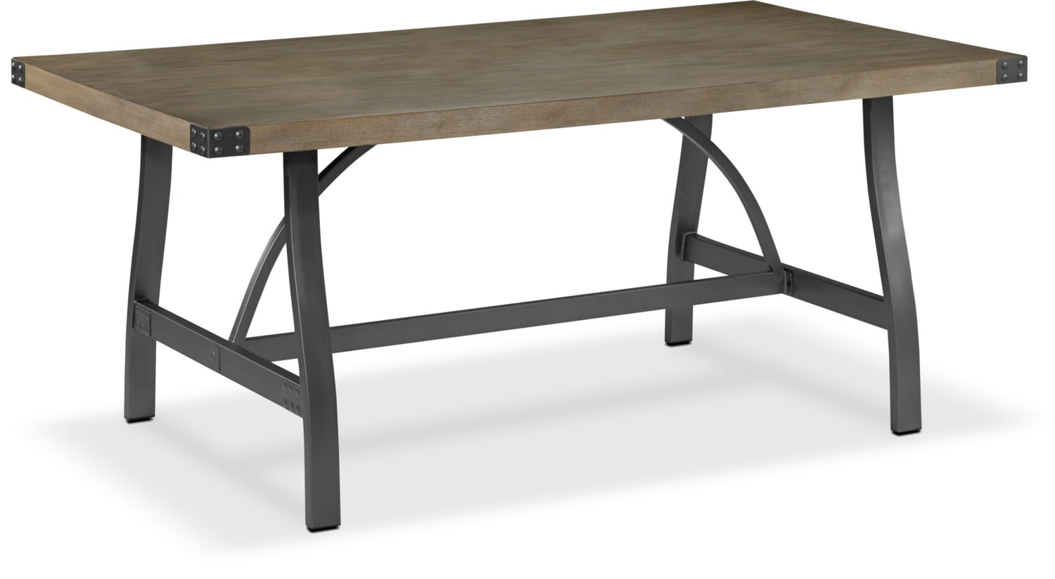 Danica Table - Rustic Pine and Grey