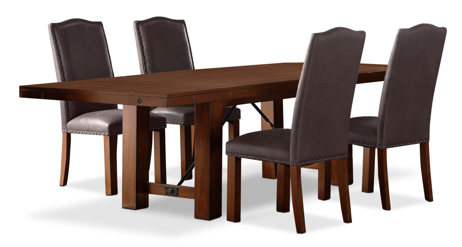 Diego 5-Piece Dining Package with Upholstered Chairs