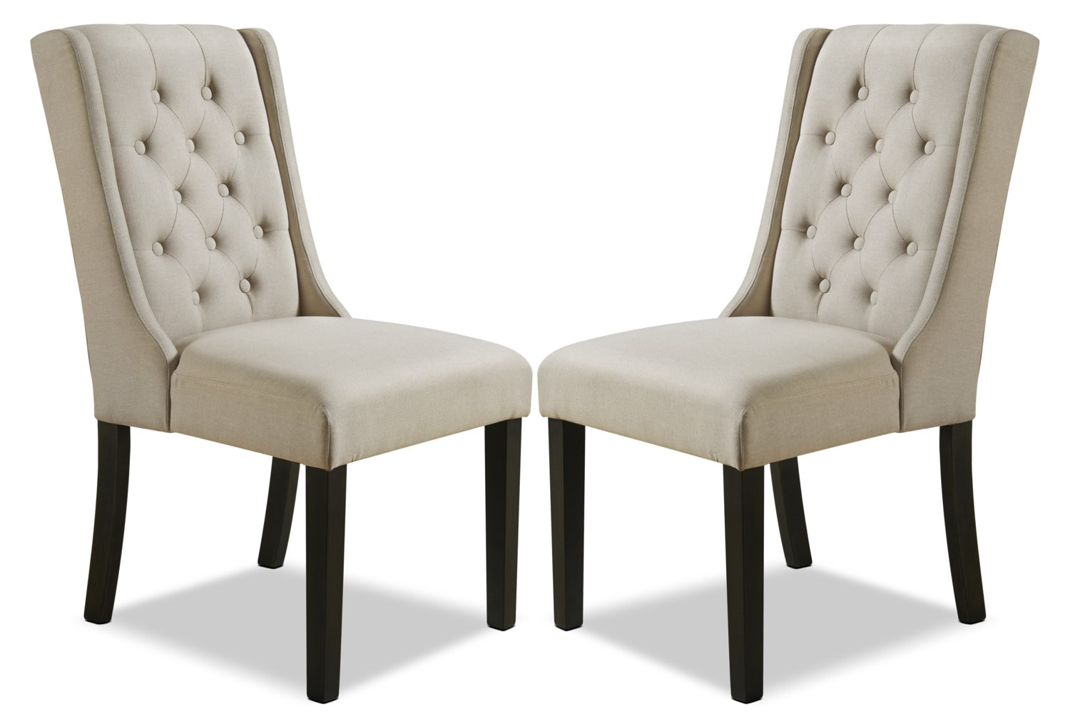 York Wingback Dining Chair Set Of 2 Beige The Brick