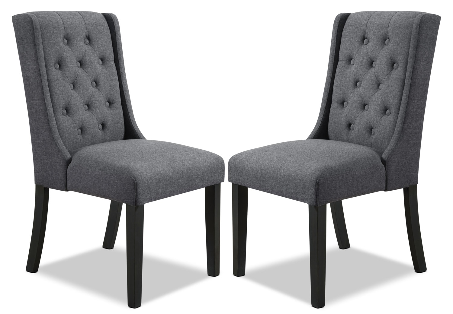 York Wingback Dining Chair Set Of 2 Grey The Brick