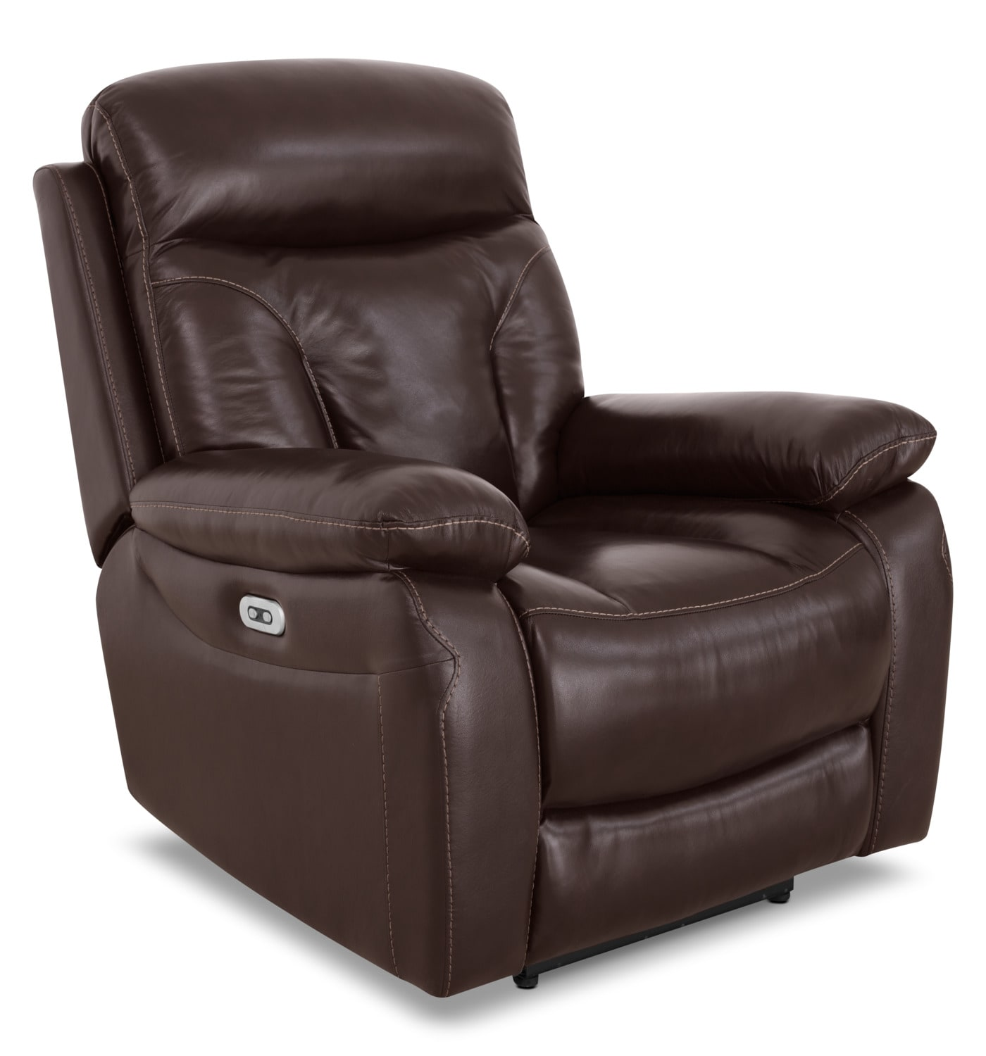 Hayes Genuine Leather Power Reclining Chair – Brown