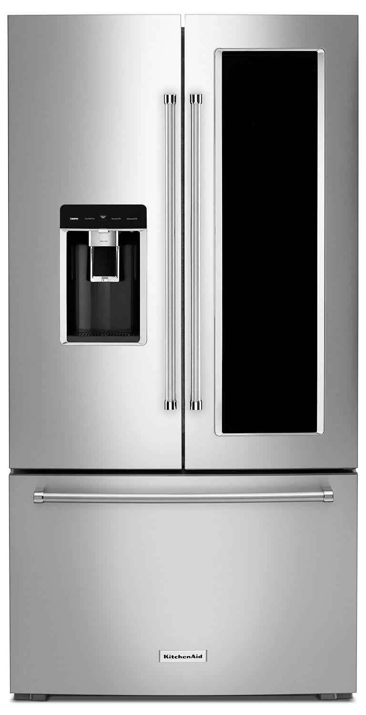 KitchenAid 23.5 Cu. Ft. Counter-Depth French-Door Refrigerator with FreshVue™– KRFC804GSS