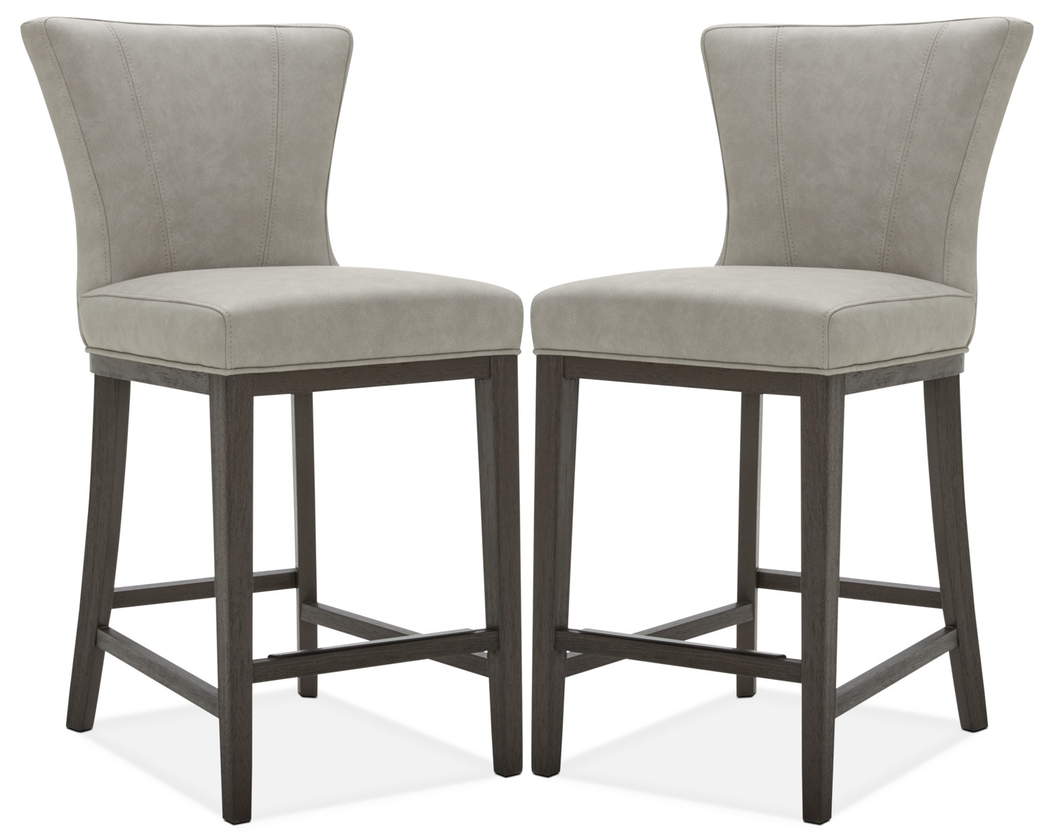 Quinn Counter Height Stool Set Of 2 Taupe The Brick