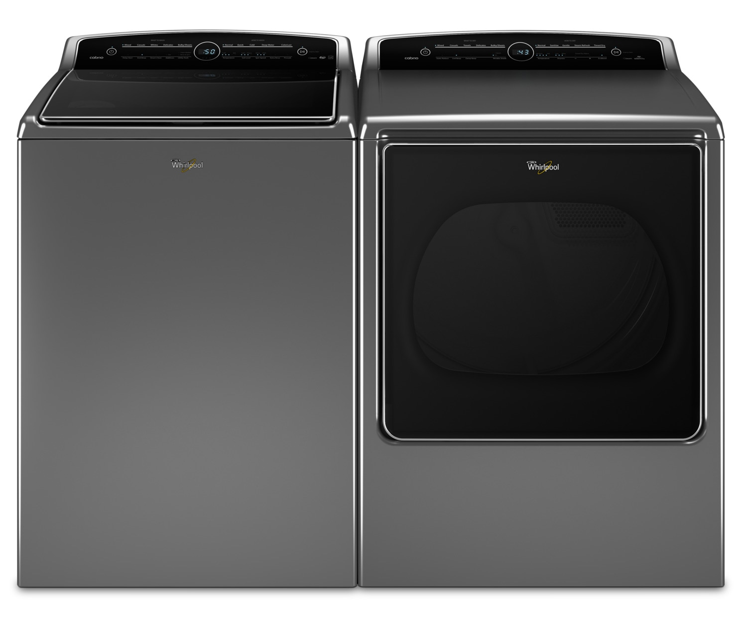 Whirlpool 6.1 Cu. Ft. Top-Load Washer and 8.8 Cu. Ft. Electric Steam Dryer